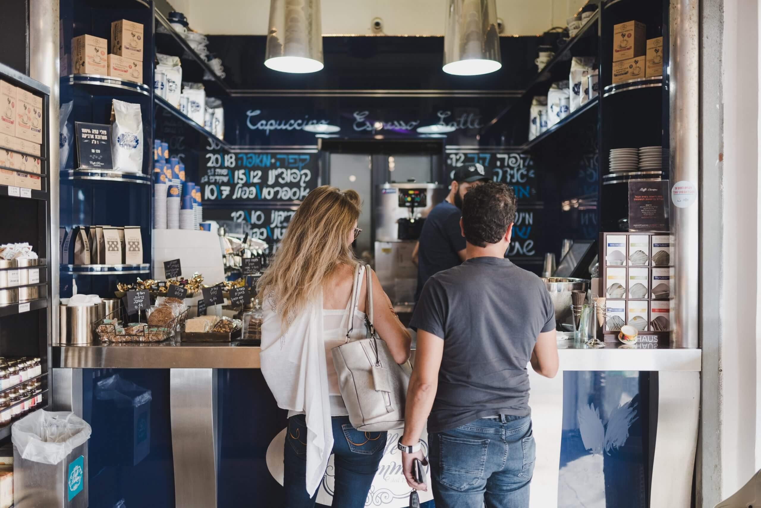 בית קפה בנמל תל אביב